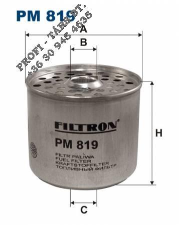 Üzemanyag szűrő DAF,IVECO PM819